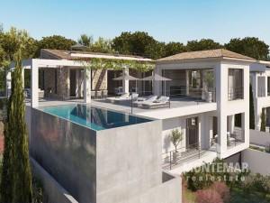 Santa Ponsa - newly built villa with stunning sea views and Mediterranean charm