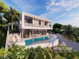 Puerto Portals - New construction villa with impressive pool and sea views