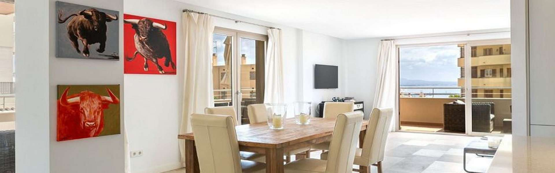 Palma/Bonanova - Nice apartment with partial sea view