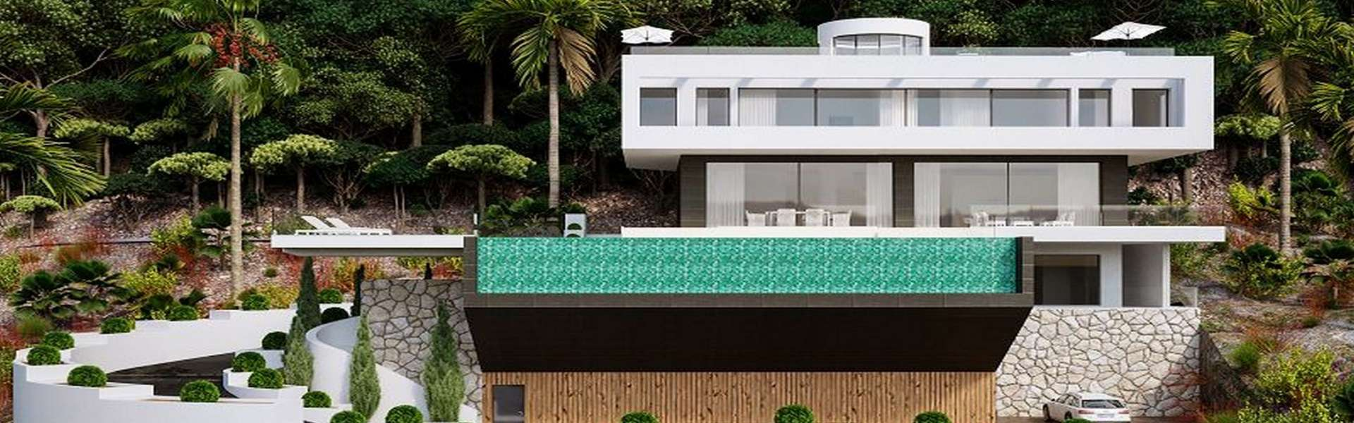 Palma/Son Vida - Designer villa with panoramic sea views