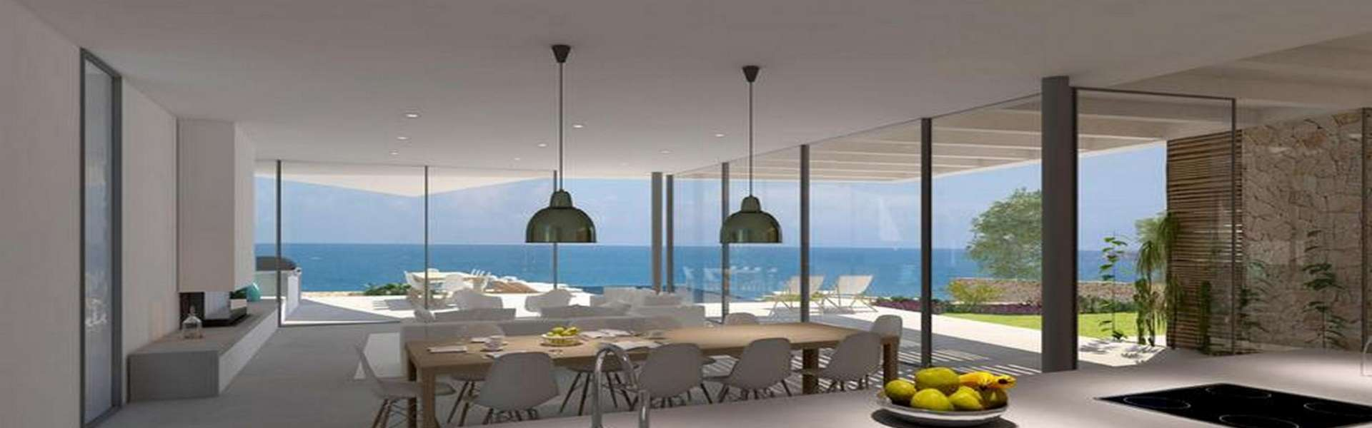New construction villa in first sea line in Cala d'Or