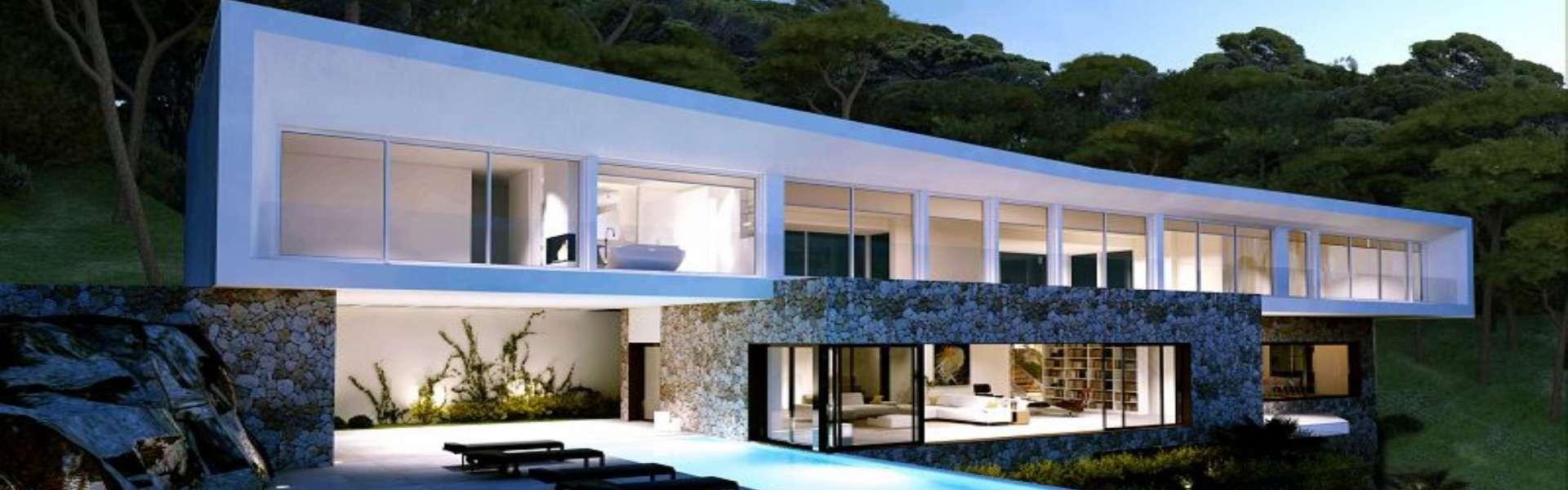 Sol de Mallorca/Villa new construction project with sea view